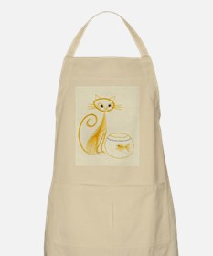 Fanciful Cat Embroidery Apron