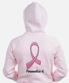Breast Cancer Personalize Zip Hoodie