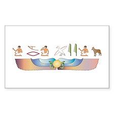 Shepherd Hieroglyphs Rectangle Decal
