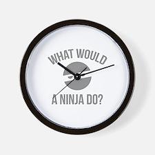 What Would A Ninja Do? Wall Clock
