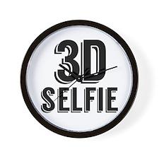 3D Selfie - Black Base Wall Clock