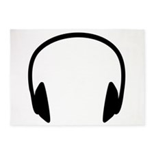Headphones 5'x7'Area Rug