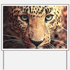 Leopard Portrait Yard Sign