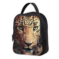 Leopard Portrait Neoprene Lunch Bag