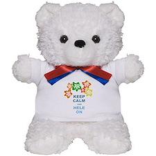 Keep Calm Hele On Teddy Bear