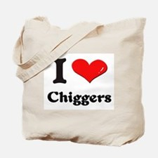 I love chiggers Tote Bag