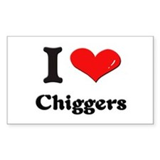 I love chiggers Rectangle Decal
