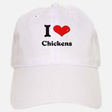 I love chickens Baseball Baseball Cap