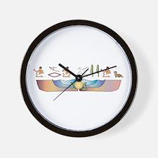 Dandie Hieroglyphs Wall Clock
