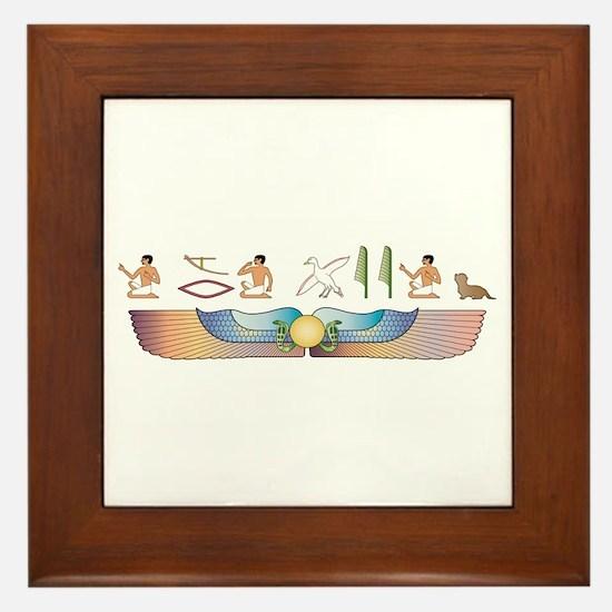 Dandie Hieroglyphs Framed Tile
