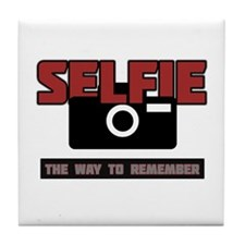 Selfie - The Way to Remember Tile Coaster