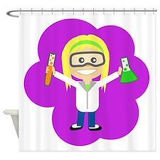Scientist Girl Shower Curtain
