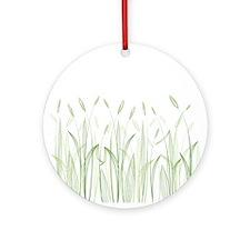 Delicate Grasses Ornament (Round)