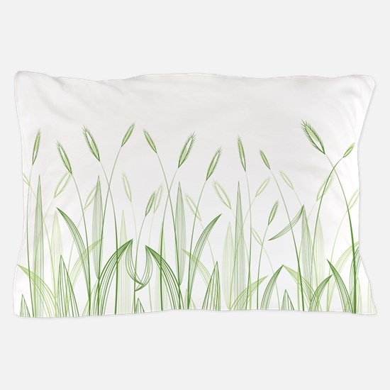 Delicate Grasses Pillow Case