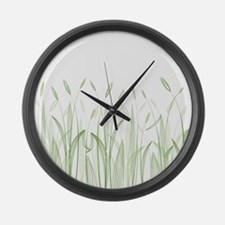 Delicate Grasses Large Wall Clock