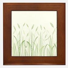 Delicate Grasses Framed Tile
