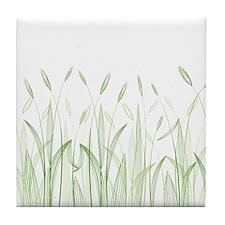 Delicate Grasses Tile Coaster