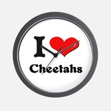 I love cheetahs  Wall Clock