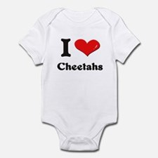 I love cheetahs  Infant Bodysuit