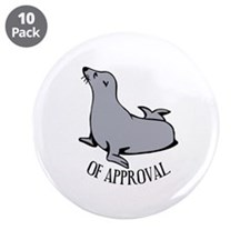 """Seal of Approval 3.5"""" Button (10 pack)"""