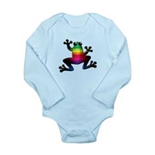 Rainbow Frog Long Sleeve Infant Bodysuit