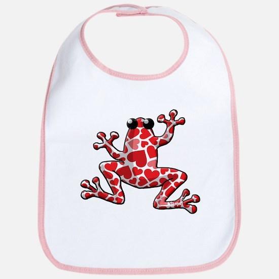 Heart Frog Bib
