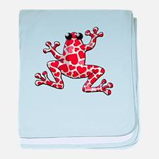 Heart Frog baby blanket