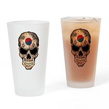 South Korean Flag Skull Drinking Glass