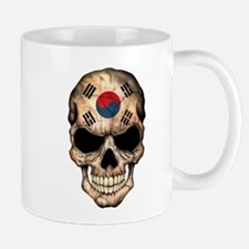 South Korean Flag Skull Mugs