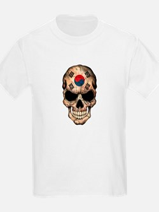 South Korean Flag Skull T-Shirt