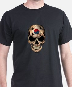 South Korean Flag Skull T-Shirt