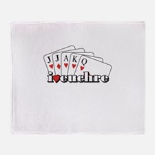 I Heart Euchre Throw Blanket