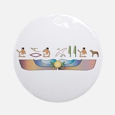Curly Hieroglyphs Ornament (Round)