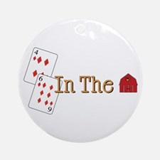 In the Barn Ornament (Round)