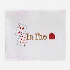 In the Barn Throw Blanket
