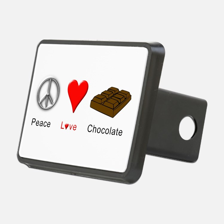 Peace Love Chocolate Hitch Cover
