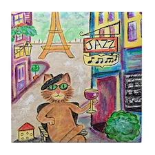 Jazz Cat Tile Coaster