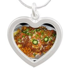 Waffle House Silver Heart Necklace