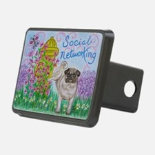Social Networking Pug Hitch Cover
