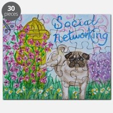 Social Networking Pug Puzzle
