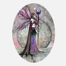 Moon Dream Fairy Fantasy Art Ornament (Oval)
