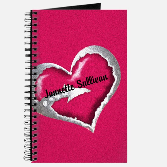 Pink Heart Arrow Personalized Journal