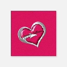 Pink Heart Arrow Personalized Sticker