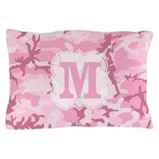 Monogram Pink Camouflage Pillow Case