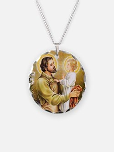 Joseph & Jesus Necklace Circle Charm