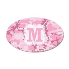 Monogram Pink Camouflage Wall Decal