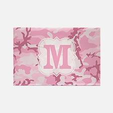 Monogram Pink Camouflage Magnets