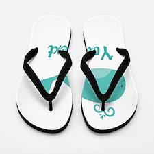 Personalizable Cute Whale Flip Flops