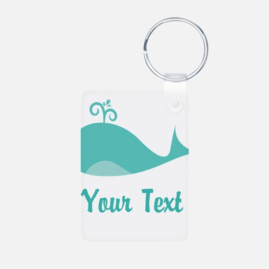 Personalizable Cute Whale Keychains