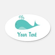 Personalizable Cute Whale Oval Car Magnet